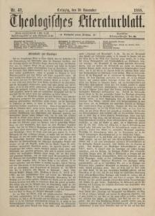 Theologisches Literaturblatt, 30. November 1888, Nr 48.