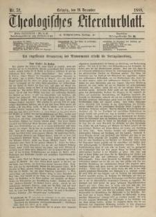 Theologisches Literaturblatt, 28. Dezember 1888, Nr 52.