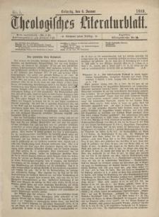 Theologisches Literaturblatt, 4. Januar 1889, Nr 1.