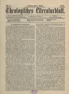Theologisches Literaturblatt, 11. Januar 1889, Nr 2.