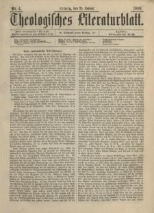Theologisches Literaturblatt, 25. Januar 1889, Nr 4.