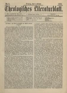 Theologisches Literaturblatt, 8. Februar 1889, Nr 6.