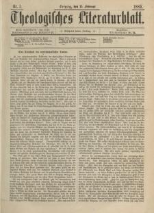 Theologisches Literaturblatt, 15. Februar 1889, Nr 7.