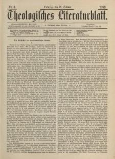 Theologisches Literaturblatt, 22. Februar 1889, Nr 8.