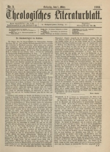 Theologisches Literaturblatt, 1. März 1889, Nr 9.