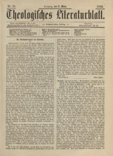 Theologisches Literaturblatt, 8. März 1889, Nr 10.