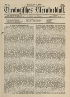 Theologisches Literaturblatt, 15. März 1889, Nr 11.