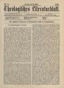 Theologisches Literaturblatt, 29. März 1889, Nr 13.