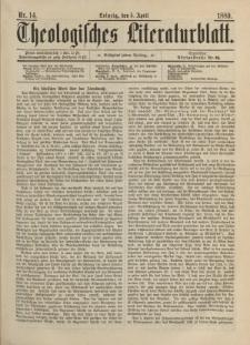 Theologisches Literaturblatt, 5. April 1889, Nr 14.