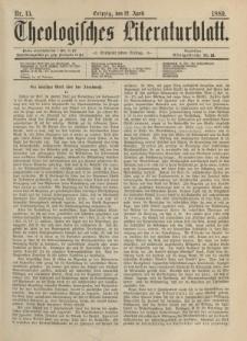 Theologisches Literaturblatt, 12. April 1889, Nr 15.