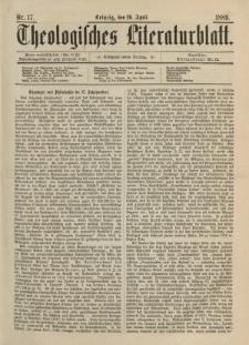 Theologisches Literaturblatt, 26. April 1889, Nr 17.
