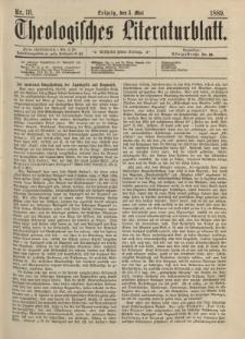 Theologisches Literaturblatt, 3. Mai 1889, Nr 18.