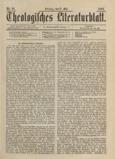 Theologisches Literaturblatt, 17. Mai 1889, Nr 20.
