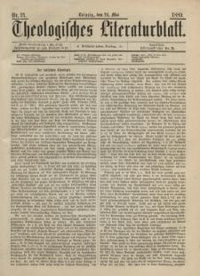 Theologisches Literaturblatt, 24. Mai 1889, Nr 21.