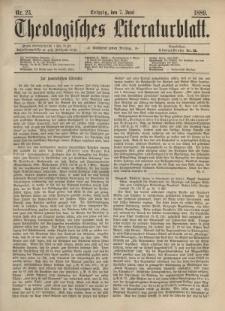 Theologisches Literaturblatt, 7. Juni 1889, Nr 23.