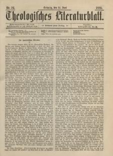 Theologisches Literaturblatt, 14. Juni 1889, Nr 24.