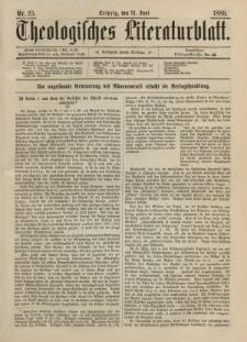 Theologisches Literaturblatt, 21. Juni 1889, Nr 25.