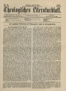 Theologisches Literaturblatt, 28. Juni 1889, Nr 26.