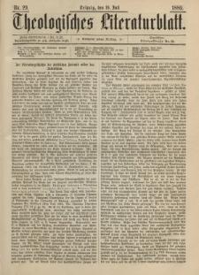 Theologisches Literaturblatt, 19. Juli 1889, Nr 29.