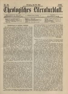 Theologisches Literaturblatt, 26. Juli 1889, Nr 30.