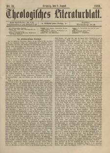 Theologisches Literaturblatt, 2. August 1889, Nr 31.