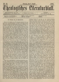Theologisches Literaturblatt, 9. August 1889, Nr 32.