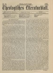 Theologisches Literaturblatt, 23. August 1889, Nr 34.