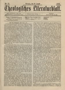 Theologisches Literaturblatt, 30. August 1889, Nr 35.