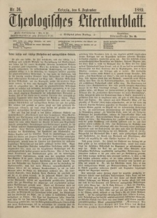 Theologisches Literaturblatt, 6. September 1889, Nr 36.