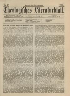 Theologisches Literaturblatt, 13. September 1889, Nr 37.