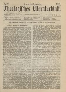 Theologisches Literaturblatt, 27. September 1889, Nr 39.