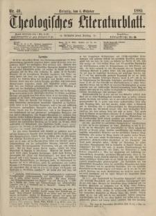 Theologisches Literaturblatt, 4. Oktober 1889, Nr 40.