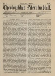 Theologisches Literaturblatt, 11. Oktober 1889, Nr 41.