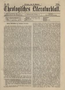 Theologisches Literaturblatt, 18. Oktober 1889, Nr 42.