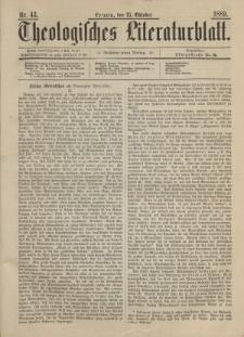 Theologisches Literaturblatt, 25. Oktober 1889, Nr 43.