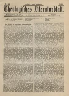 Theologisches Literaturblatt, 1. November 1889, Nr 44.