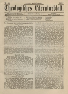 Theologisches Literaturblatt, 13. November 1889, Nr 46.