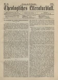 Theologisches Literaturblatt, 29. November 1889, Nr 48.
