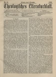 Theologisches Literaturblatt, 13. Dezember 1889, Nr 50.