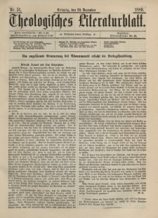 Theologisches Literaturblatt, 20. Dezember 1889, Nr 51.