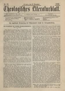 Theologisches Literaturblatt, 27. Dezember 1889, Nr 52.