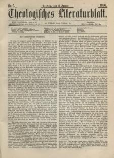 Theologisches Literaturblatt, 31. Januar 1890, Nr 5.