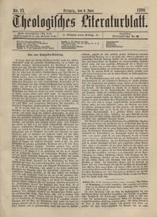Theologisches Literaturblatt, 6. Juni 1890, Nr 23.