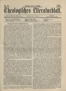 Theologisches Literaturblatt, 15. August 1890, Nr 33.