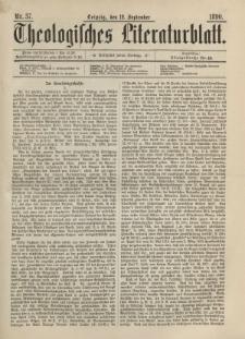 Theologisches Literaturblatt, 12. September 1890, Nr 37.
