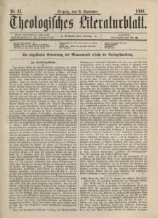 Theologisches Literaturblatt, 19. September 1890, Nr 38.