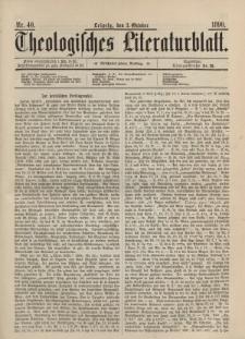 Theologisches Literaturblatt, 3. Oktober 1890, Nr 40.