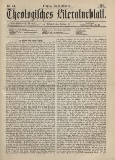 Theologisches Literaturblatt, 31. Oktober 1890, Nr 44.