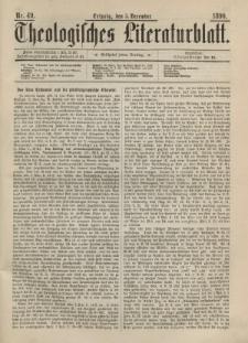 Theologisches Literaturblatt, 5. Dezember 1890, Nr 49.