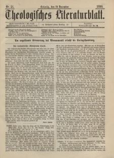 Theologisches Literaturblatt, 19. Dezember 1890, Nr 51.